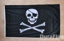 "SKULL AND CROSSBONES PIRATE - 18"" x 12"" WITH ROPE & TOGGLE (45cm x 30cm)"